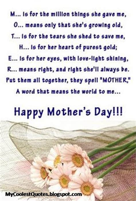 mother day quote my coolest quotes may 2013