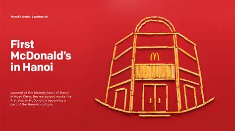 hanoi landmarks  creative ad campaign  mcdonalds fries designbolts