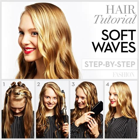 how to do curly hairstyles soft loose curls 4 steps to wavy hair fashion magazine