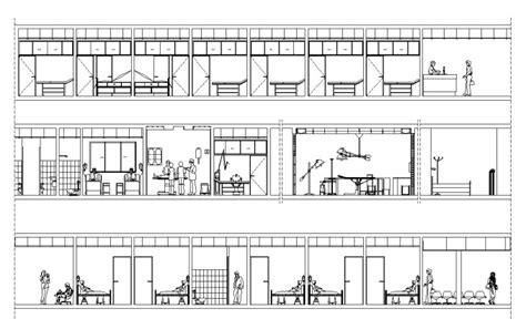 hospital laundry layout plan cad dwg free hospital elevation free cad blocks drawings