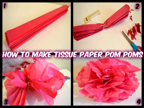 How To Make Pom Poms Out Of Paper - how to make tissue paper pom poms and easy