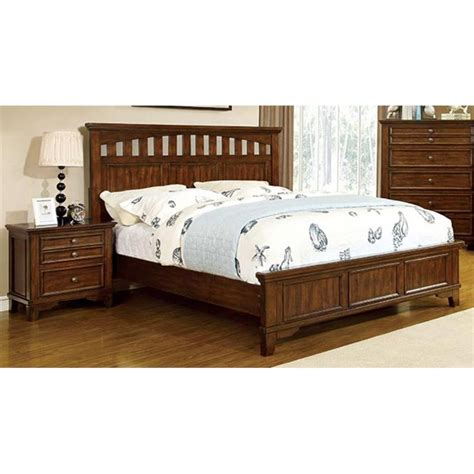 2 piece bedroom set furniture of america alred 2 piece king panel bedroom set