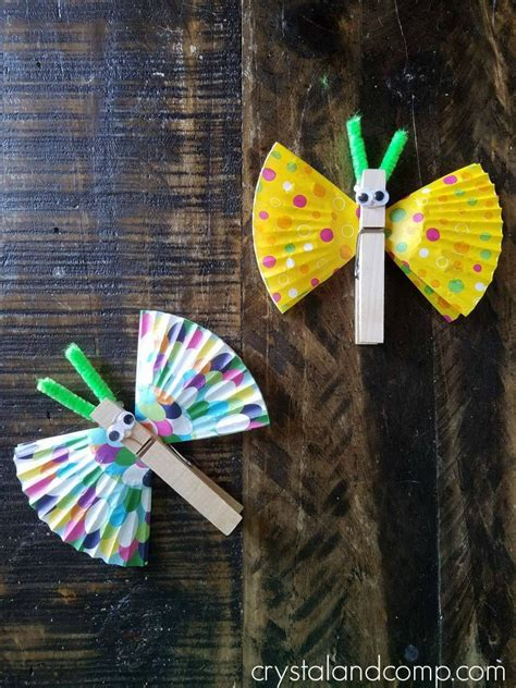 butterfly clothespin craft  preschoolers