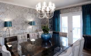 Wallpaper Ideas For Dining Room by 27 Splendid Wallpaper Decorating Ideas For The Dining Room