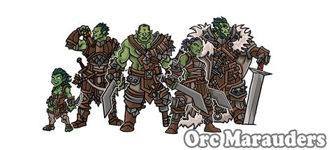 printable heroes reddit orc marauders paper miniatures by printableheroes on