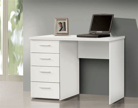 Small Desk Drawers Pulton Simple Small White Desk With Drawers By Furniturefactor Wow
