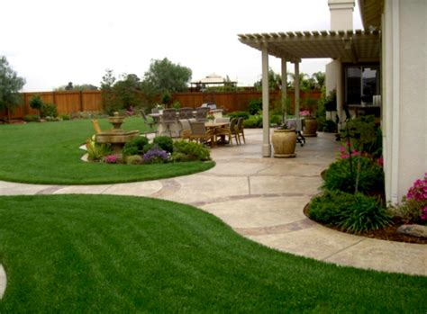 landscape design ideas for backyard image gallery simple landscaping