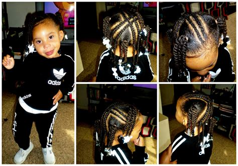 Toddler/Kid Style 4 X Braids 4 Ponytails w/Twists   YouTube
