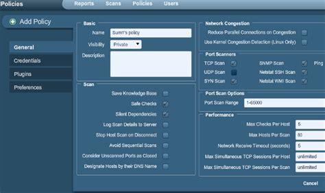 default nessus port installing and running nessus 4 2 2 the basics