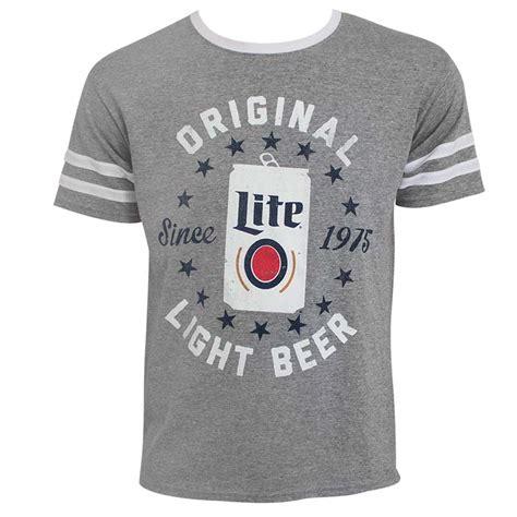T Shirt Miller Lite miller lite varsity triblend s gray tshirt
