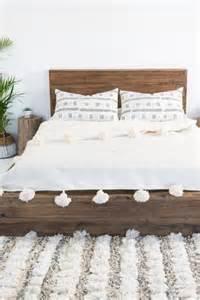 Wood Bed Frame Cover Pom Pom White Duvet Cover Home White Texture White Duvet And Blankets