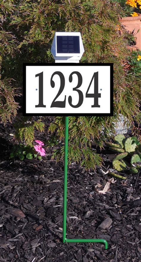 solar lighted address signs for homes solar illuminated lawn mount address sign
