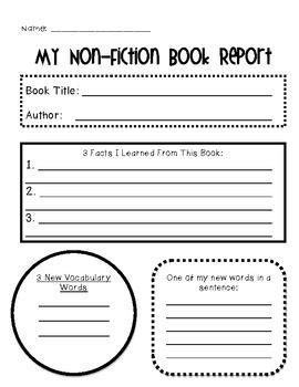 Non Fiction Graphic Organizer Pack Graphic Organizers Author Report Template