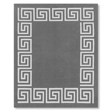 key outdoor rug key border indoor outdoor rug gray williams sonoma