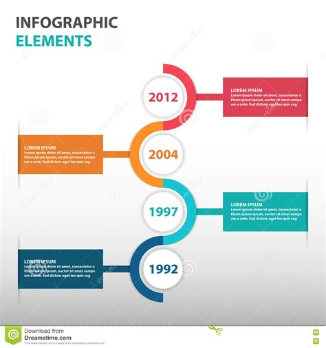 Abstract Circle Business Timeline Roadmap Infographics 2020 Vision Ppt Template Free