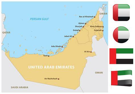 map united arab emirates united arab emirates map free vector stock