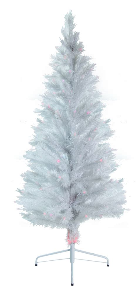 ge white fiberoptic tree w multi colored lights 6 ft white artificial tree w fiber optic multi colored light auctions buy