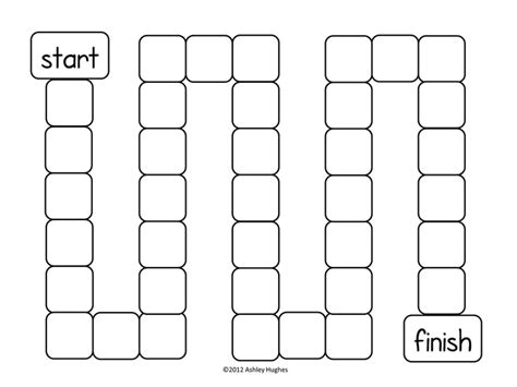 Printable Board Game Boards | blank board game template printable gameboards