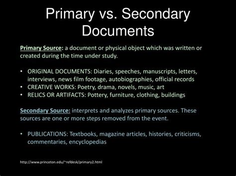 Secondary Document ppt primary vs secondary documents powerpoint