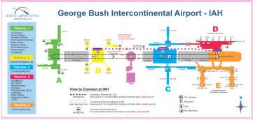 houston airport iah map houston tx airport mappery