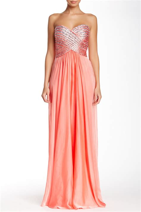 Nordstrom Rack Prom Dresses by Glitter Stripe Gown From Nordstrom Rack Prom Collection