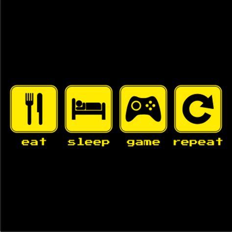 Eat Play Tv Sleep Kaos Gamers eat sleep repeat juicebubble t shirts