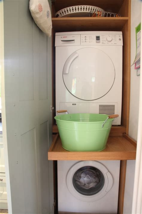 Cabinet For Washing Machine And Dryer by Bespoke Kitchens Holme Tree Leicestershire