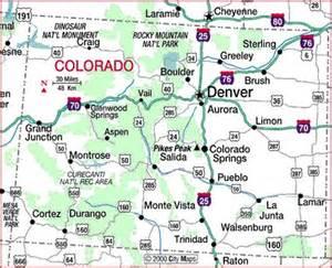 colorado show map and colorado city on