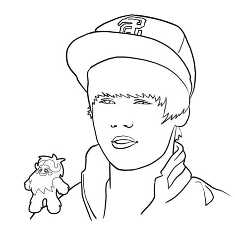 coloring page justin bieber justin bieber coloring sheets coloring town
