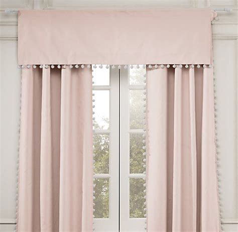 restoration hardware baby curtains pom pom linen cotton valance valances restoration
