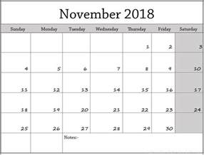 calendar template november 2018 weekly calendar images printable calendar