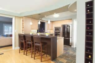 Kitchen Bar Island Ideas by Eclectic Kitchen Design With Island Bar And Cool Blue