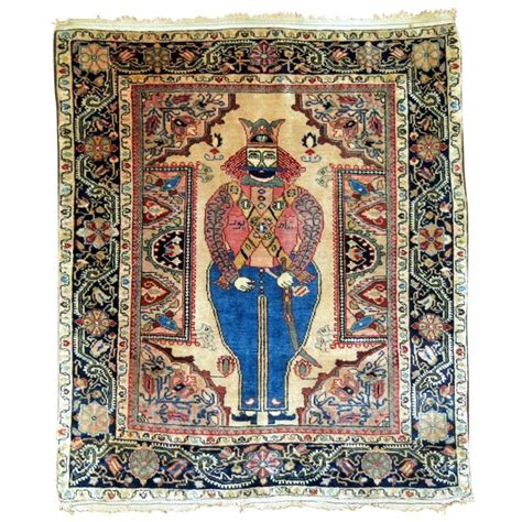 king rug antique sarouk king shapur rug for sale at 1stdibs