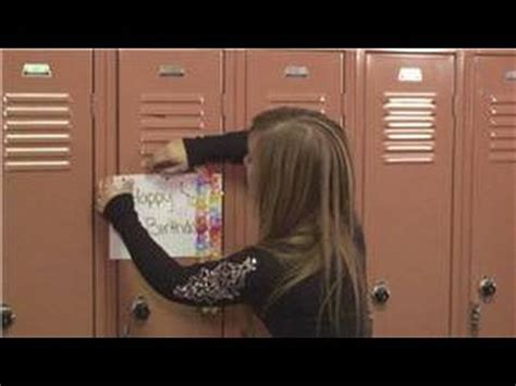 Cute Locker Decorations Lockers How To Decorate A Locker For A Birthday