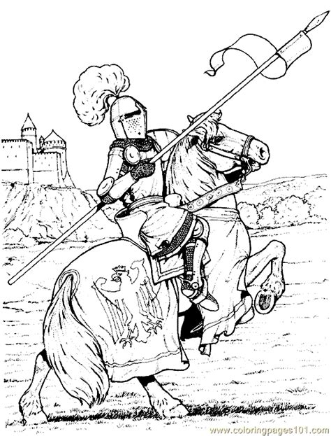 printable coloring pages knights coloring pages castle coloring page 04 peoples