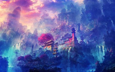 wallpaper for iphone scenery dark anime scenery wallpaper 183 download free stunning
