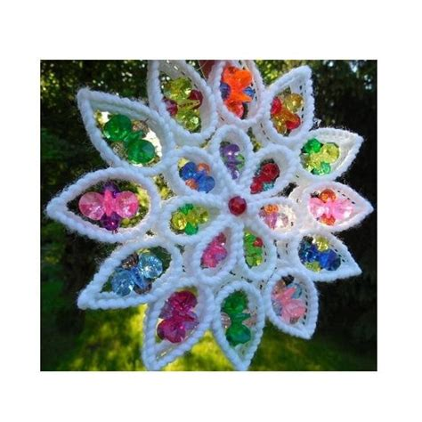 plastic canvas ornament patterns plastic canvas suncatcher pattern 0001c by all stitches