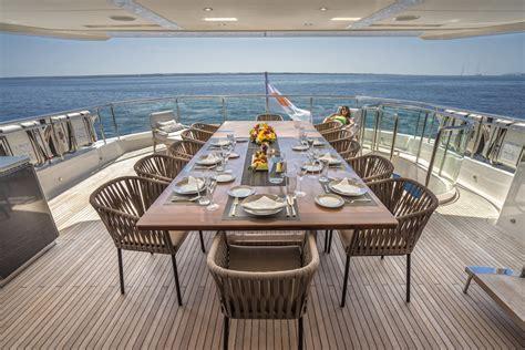 yacht upper deck upper deck aft alfresco dining aboard m y anka yacht