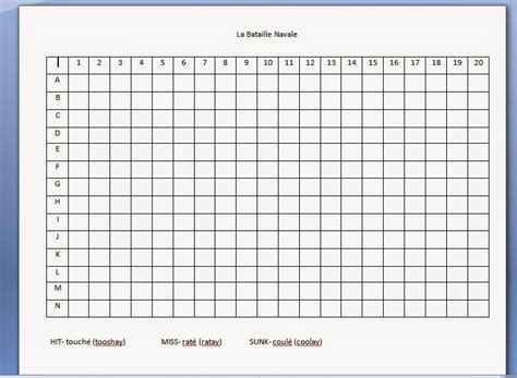 Je M Appelle Madame Battleship For Letter And Number Practice Battleship Template