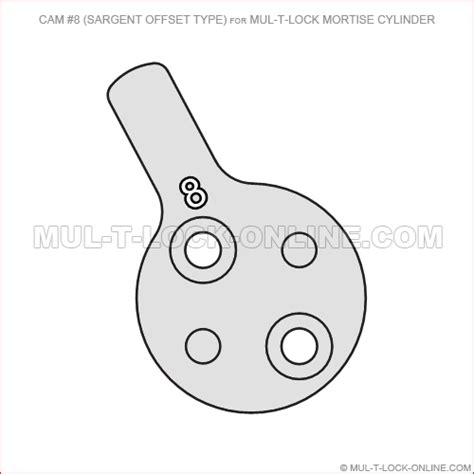 sargent templates mul t lock 8 for mul t lock mortise cylinder