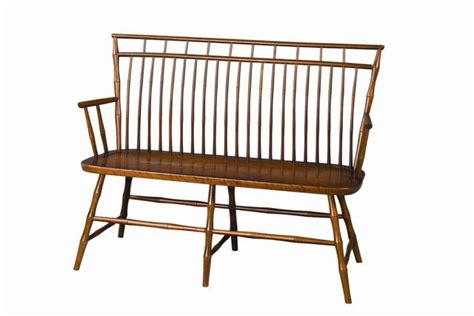 cherry wood bench cherry birdcage windsor bench from dutchcrafters amish furniture