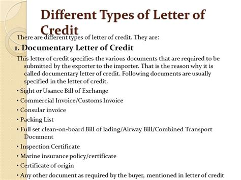 Insurance Policy Letter Of Credit chapter 5 terms of payment ppt