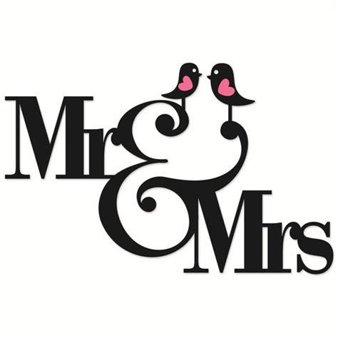 mr and mrs wedding cuttable designs