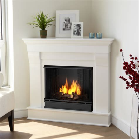 gel fuel corner fireplace real chateau corner gel fuel fireplace reviews wayfair