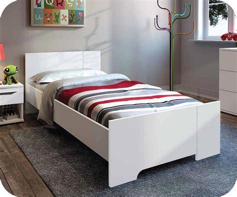 canapé une place et demi lit enfant jazz blanc 90x190 cm achat vente lit enfant