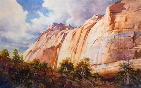 zion acrylic painting nature s sculpture giclee print roland