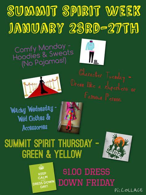summit spirit week jan    summit school