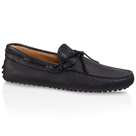 driving shoes tod s gommino driving shoes in leather in blue for lyst