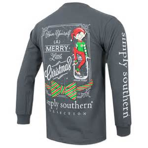 Mud Pie Christmas Decor - simply southern youth christmas elf long sleeve shirt gray