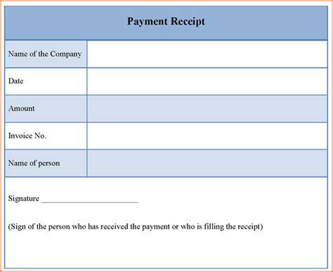 Receipts For Payments Template by 5 Payment Receipt Template Budget Template Letter